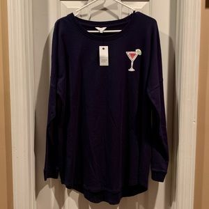 Crown & Ivy... Women's Size L... Navy(Long sleeve)